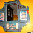 Mirror with inlay prints
